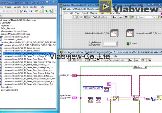 Labview Mitsubishi PLC FX1S FX1N FX2N FX3U FX3G - Vlabview Co ,Ltd