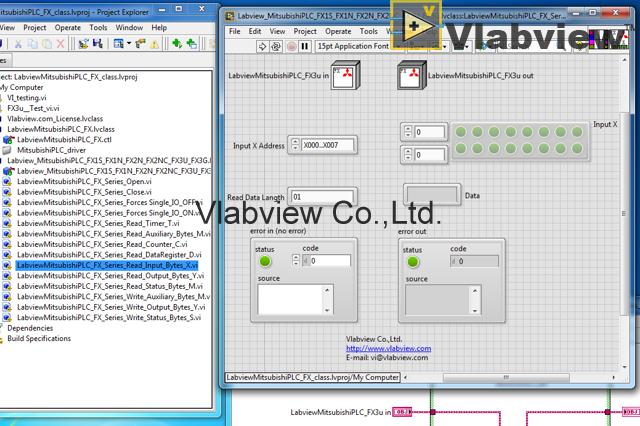 Labview Mitsubishi PLC FX1S FX1N FX2N FX3U FX3G - Vlabview